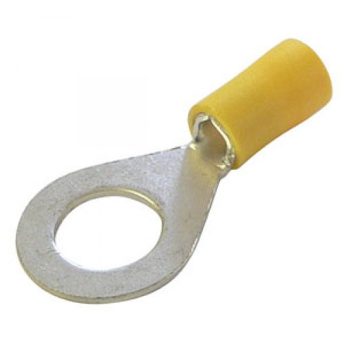 Yellow Insulation Cable Lugs 4.0 - 6.0mm