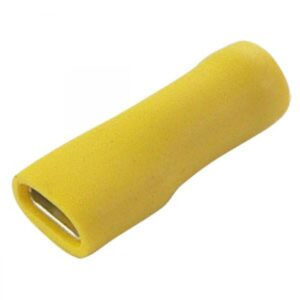4.00-6.0mm x 6.3mm Yellow fully insulated female terminal cable lugs