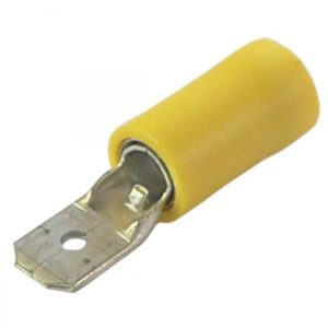 4.00-6.0mm x 6.3mm Yellow push on male terminal cable lugs
