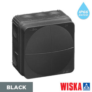 Black-wiska-combi-junction-box-ip65