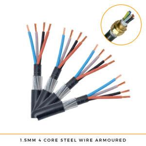 1.5mm x 4 Core SWA Cable Per Metre
